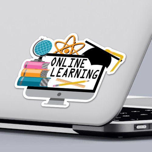 Funny 2020 Quarantine Sticker Online Learning Sticker Design