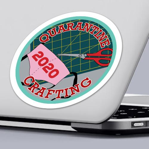 Funny 2020 Quarantine Sticker Quarantine Crafting Sticker Design