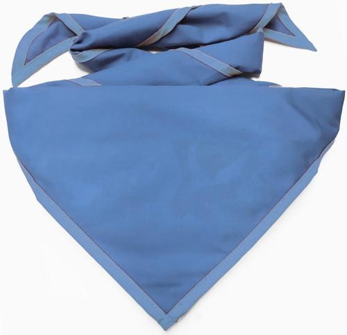 Blank Solid Iris Blue Neckerchief - Troop Size (B414 M 78)