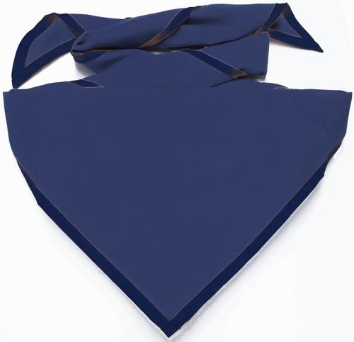 Blank Solid Dark Blue Neckerchief - Troop Size (B414 M 83)