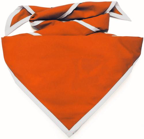 Blank Orange Neckerchief With White Piped Edge - Troop Size (B848 M 61/1W)
