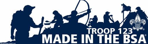 Scouts BSA Troop Bumper Sticker with BSA Logo