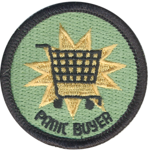 Funny 2020 Quarantine Patch with Panic Buyer Iron On Patch Design
