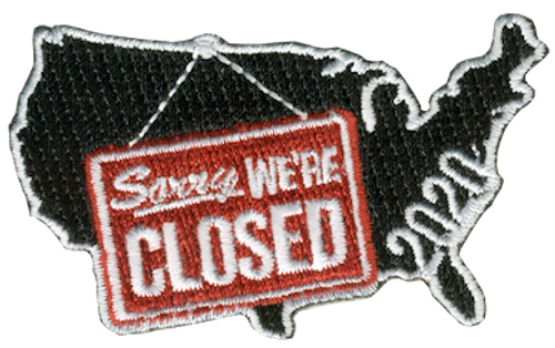 America Sorry We're Closed Patch - IRON ON