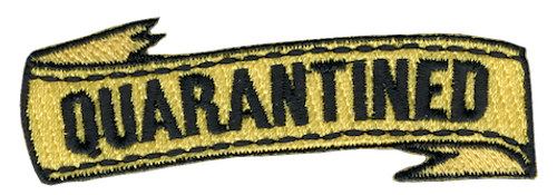 Funny 2020 Quarantine Patch with Quarantined Ribbon  Iron On Patch Design