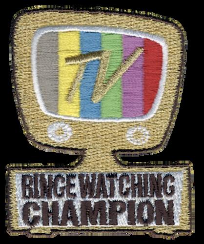 Binge Watching Champion Patch - IRON ON