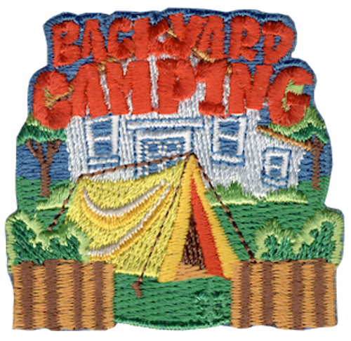 Backyard Camping Patch - IRON ON