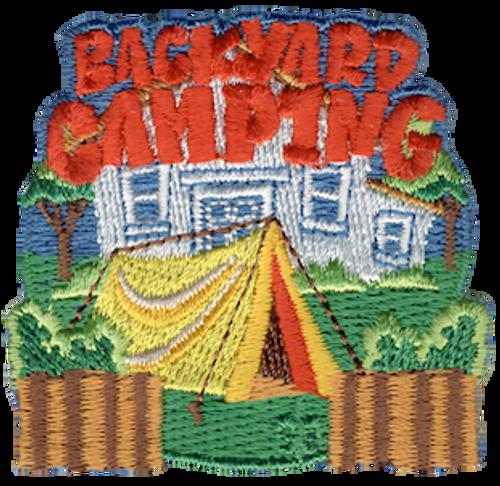 Backyard Camping Patch - IRON ON