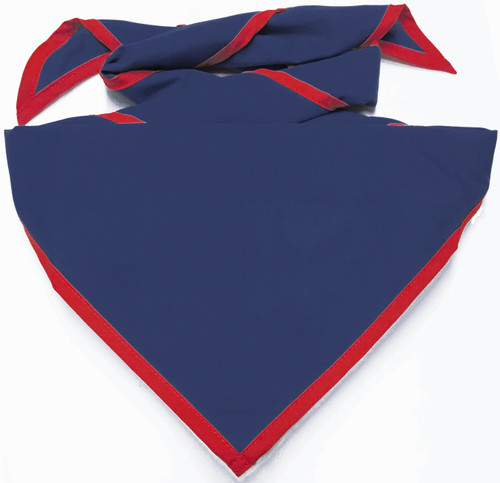 Blank Metro Blue Neckerchief With True Red Piped Edge - Troop Size (B848 M 91/BD)