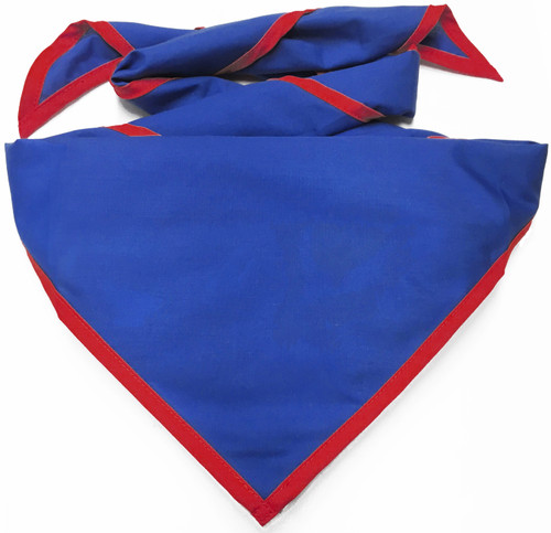 Blank Royal Blue Neckerchief With True Red Piped Edge - Pack Size (B848 M DB/BD)