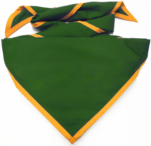 Blank Medium Green Neckerchief With Gold Piped Edge - Pack Size (B848 BST 45/9)