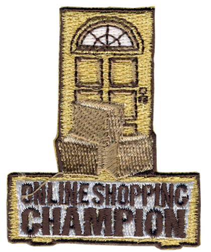 Funny 2020 Quarantine Patch with Online Shopping Champion Iron On Patch Design