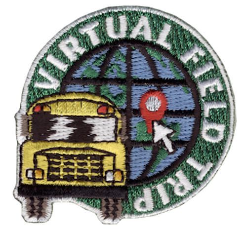 Funny 2020 Quarantine Patch with Virtual Field Trip Iron On Patch Design