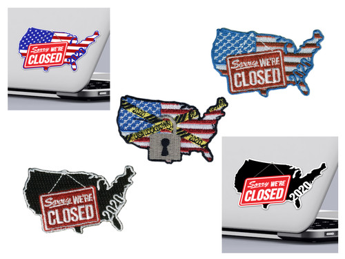 America is Closed Sticker and Patch Pack