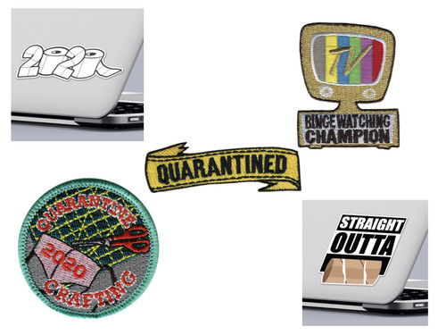 Funny 2020 Quarantine Sticker and Patch Quarantined Patch and Sticker Pack Design