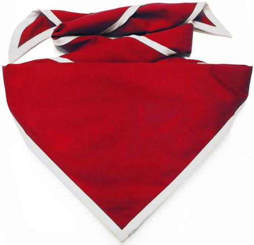 Blank Red Neckerchief With White Piped Edge - Troop Size (B848 M 4/1W)