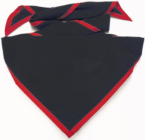 Blank Black Neckerchief With Red Piped Edge Troop Size (B848 M 90/BD)