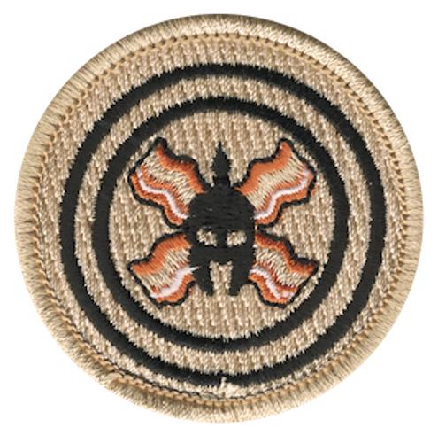 Spartan Bacon Scout Patrol Patch - embroidered 2 inch round