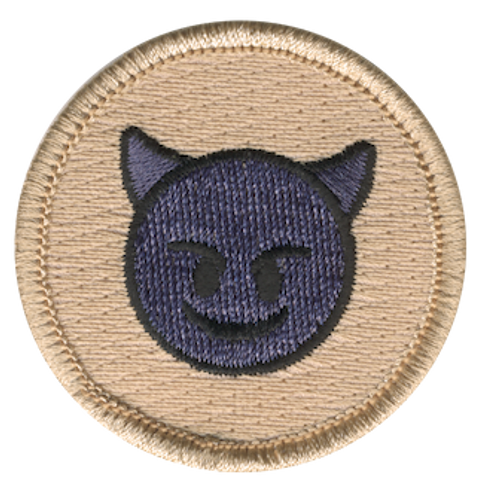 Purple Devil Scout Patrol Patch - embroidered 2 inch round