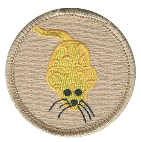 Cheese Mouse Scout Patrol Patch - embroidered 2 inch round