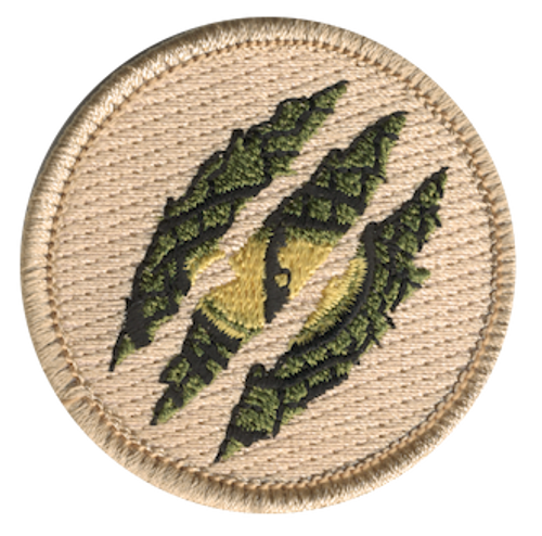 Dinosaur Claw Scratch Scout Patrol Patch - embroidered 2 inch round