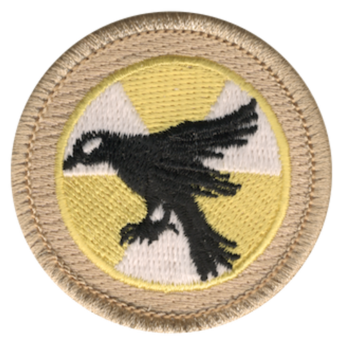 Radioactive Raven Scout Patrol Patch - embroidered 2 inch round