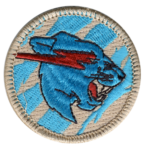 Lightning Panther Scout Patrol Patch - embroidered 2 inch round