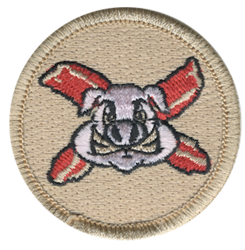 Bacon Power Scout Patrol Patch - embroidered 2 inch round