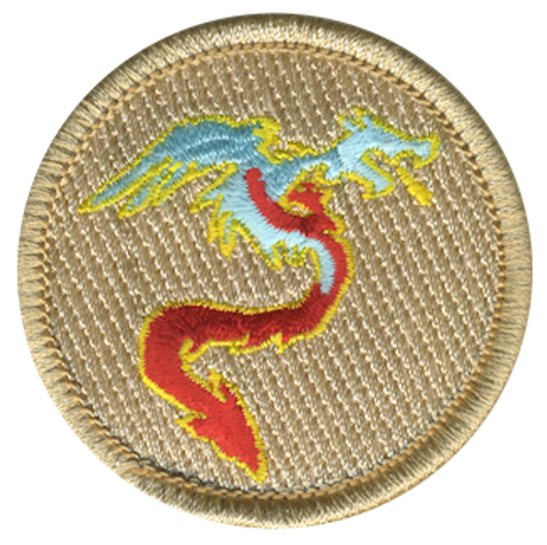 Blazing Ice Dragon Scout Patrol Patch - embroidered 2 inch round