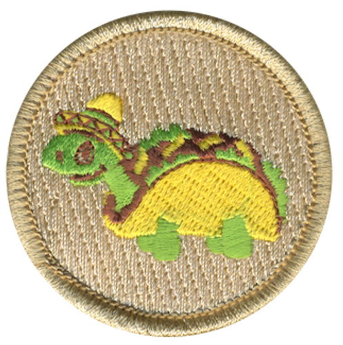 Turtle Taco Scout Patrol Patch - embroidered 2 inch round