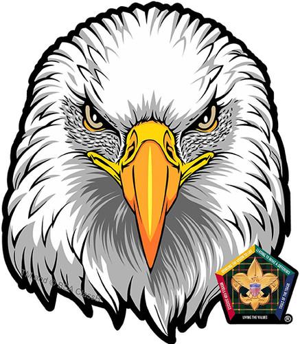 Old Logo Wood Badge Eagle Car Window Sticker (SP5395)