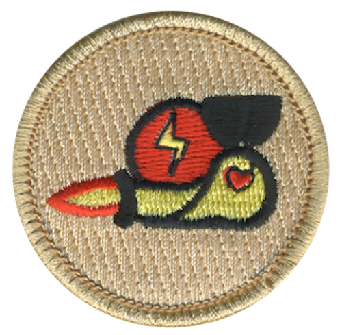 Speedy Snail Scout Patrol Patch - embroidered 2 inch round