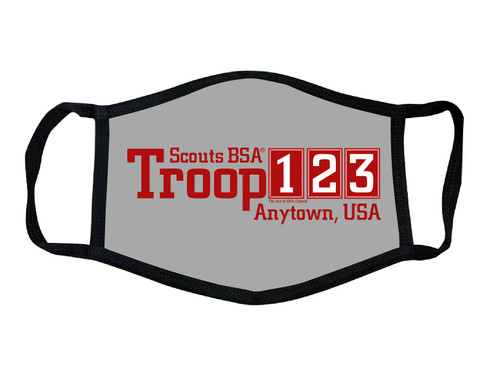 Scouts BSA Troop Face Mask with Troop Number and City and State