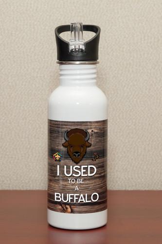 Wood Badge (Old Logo) Steel Water Bottle - Buffalo Critter- SP6933