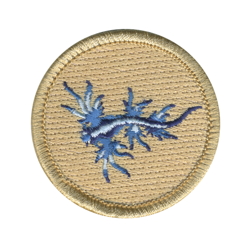 Blue Sea Dragon Scout Patrol Patch - embroidered 2 inch round