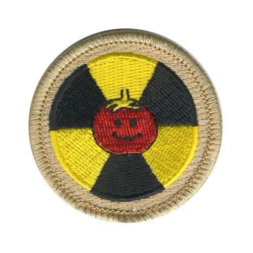 Atomic Tomato Scout Patrol Patch - embroidered 2 inch round