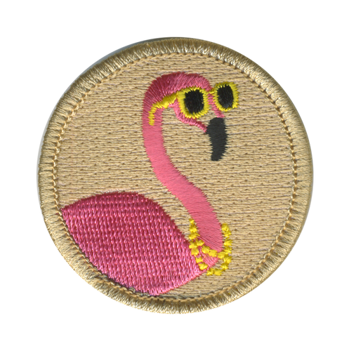 Fresh Flamingo Scout Patrol Patch - embroidered 2 inch round