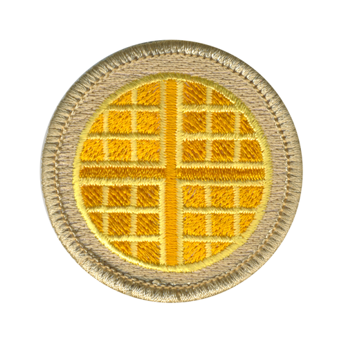 Waffle Scout Patrol Patch - embroidered 2 inch round