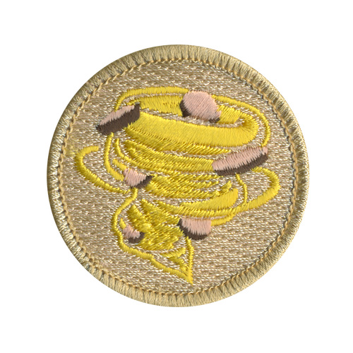 Cheezy Peanut Butter Cup Tornado Scout Patrol Patch - embroidered 2 inch round