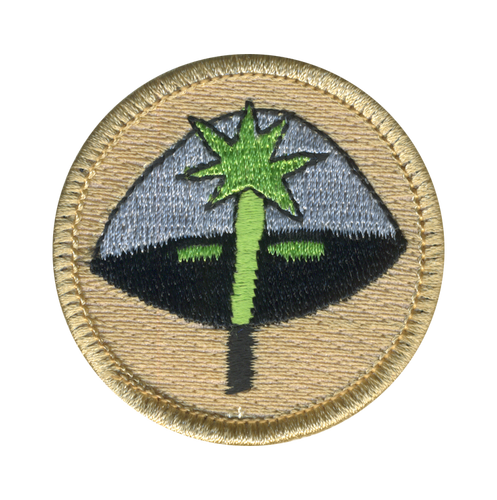 Magic Wand Scout Patrol Patch - embroidered 2 inch round