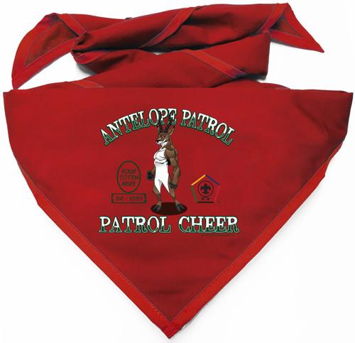 Custom Digitally Printed Antelope Wood Badge Patrol Neckerchief (SP4995)