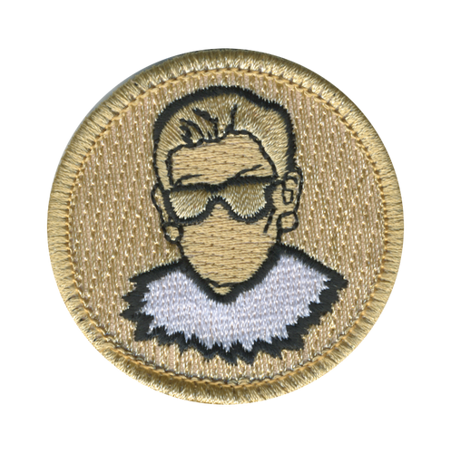 Ruth Bader Ginsburg Scout Patrol Patch - embroidered 2 inch round