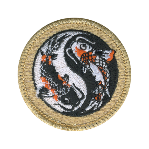Koi Fish Scout Patrol Patch - embroidered 2 inch round