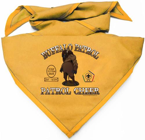 Wood Badge Neckerchief with Wood Badge Buffalo and Wood Badge Logo