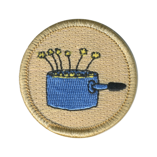 Corn Popper Scout Patrol Patch - embroidered 2 inch round