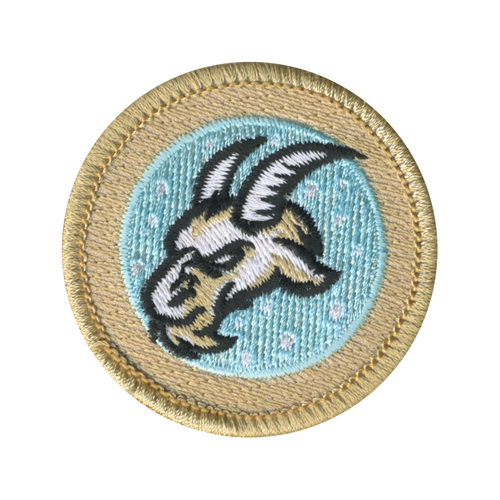 The Cold Goats Scout Patrol Patch - embroidered 2 inch round