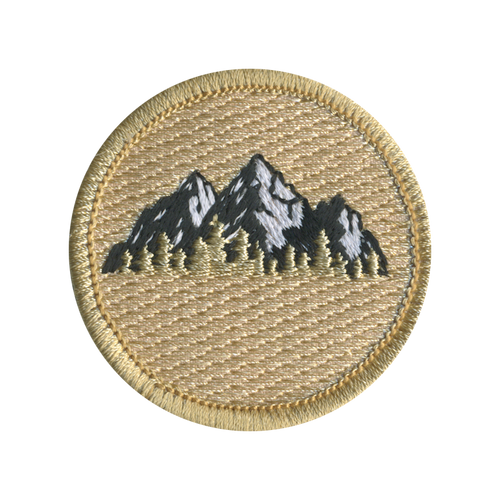Mount Katahdin Patrol Patch - embroidered 2 inch round