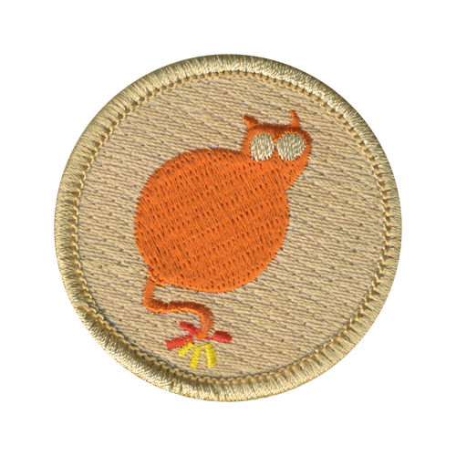 Cat Bomb Patrol Patch - embroidered 2 inch round