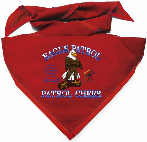 Custom Digitally Printed Eagle Wood Badge Patrol Neckerchief (SP4992)