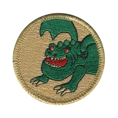 Green Dragon Patrol Patch - embroidered 2 inch round